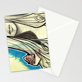 Graffiti Girl Stationery Cards