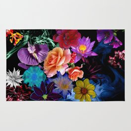 Colorful Fractal Flowers Rug