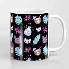 Pirate Cat // Black Coffee Mug
