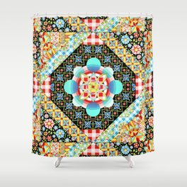Bricolage Patchwork Quilt (printed) Shower Curtain