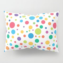 Rainbow Polka Dots Pillow Sham