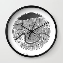 New Orleans Map Universe Wall Clock