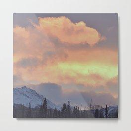 Serenity Rose Mt Sunrise Metal Print