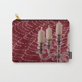 Red Damask Web Candelabra Carry-All Pouch
