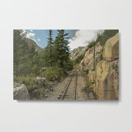 Tracks to where? Metal Print