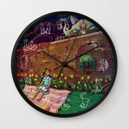 Amy In Wonderland Wall Clock