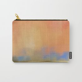 Abstract Landscape With Golden Lines Painting Carry-All Pouch