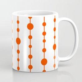 Orange vertical lines and dots Coffee Mug