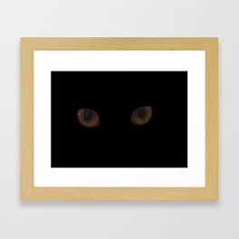 Sekhmet's eyes Framed Art Print