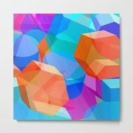 Sky of Cubes Metal Print
