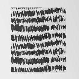 Modern Paint Stripe Throw Blanket