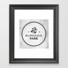 Burnside Park Framed Art Print