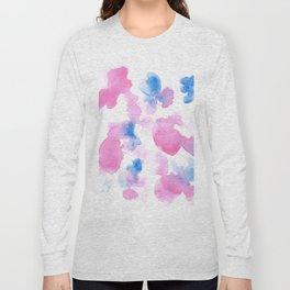 18015 Watercolour Abstract Wp 12   Watercolor Brush Strokes Long Sleeve T-shirt