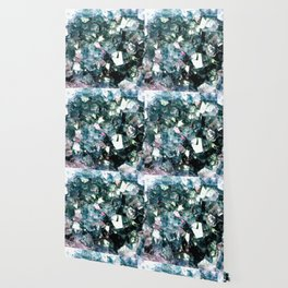 Geode Crystal Turquoise Pink Quartz Wallpaper