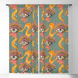 Cosmic Eye Retro 70s, 60s inspired psychedelic Blackout Curtain