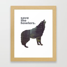 Save the Howlers Framed Art Print