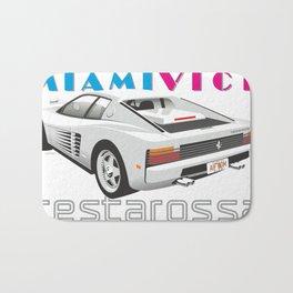 Ferrari Testarossa from Miami Vice Bath Mat