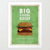 Pulp Fiction - big kahuna burger Art Print