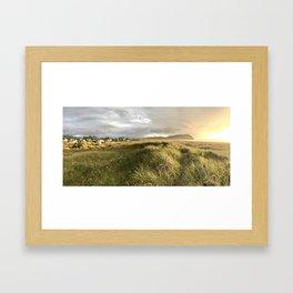 Dunes at Seaside Framed Art Print