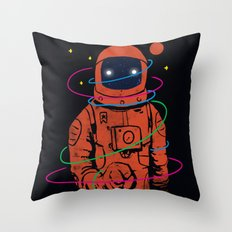 Circles In SPACE Throw Pillow