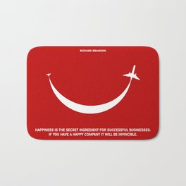 Lab No. 4 - Happiness is the secret Richard Branson Business Quotes Poster Bath Mat