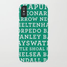 Life's a beach - Emerald iPhone Case