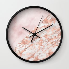 Rose gold & pinks marble Wall Clock