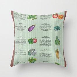 Veggies - Health Benefits Diagram Throw Pillow