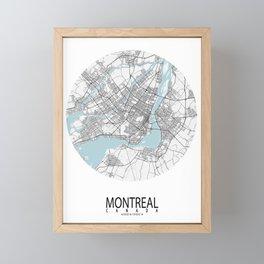 Montreal City Map of Canada - Circle Framed Mini Art Print