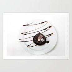 dark chocolate cake Art Print