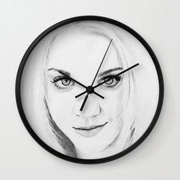 Kaley Cuoco Pencil Portrait. Wall Clock