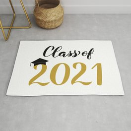 Class of 2021 calligraphy lettering  Rug