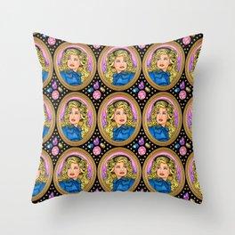My Velveteen Queen Throw Pillow