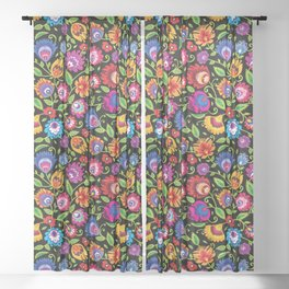 Folklore meadow Sheer Curtain
