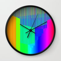 pivot Wall Clocks featuring R Experiment 4 (quicksort v2) by X's gallery