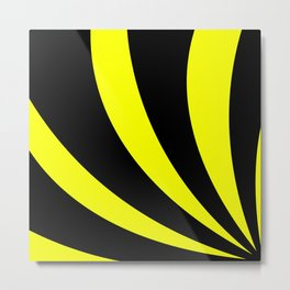 Swoopy  |  Black and Yellow Metal Print