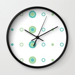 Lil Monsters - pattern 4 Wall Clock