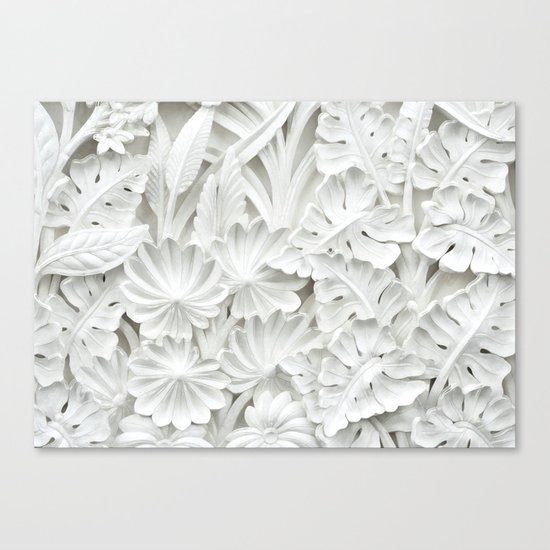 White&Classy Canvas Print