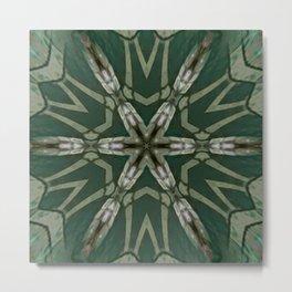 The Green Unsharp Mandala 5 Metal Print