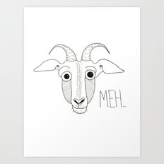 Meh Goat Art Print