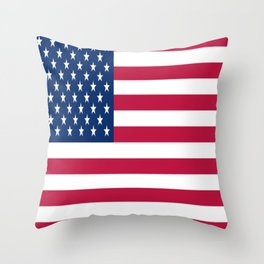 Flag of USA - American flag, flag of america, america, the stars and stripes,us, united states Throw Pillow