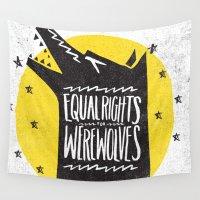 werewolf Wall Tapestries featuring WEREWOLF RIGHTS by Matthew Taylor Wilson