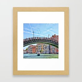 Ponte dell' Accademia Bridge In Venice, Italy Framed Art Print