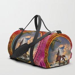 Wonderful horse on the beach Duffle Bag