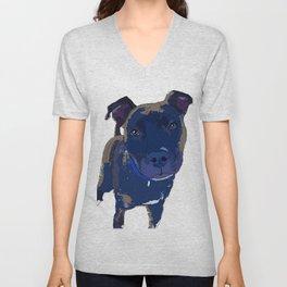 Black Lab Dog Unisex V-Neck