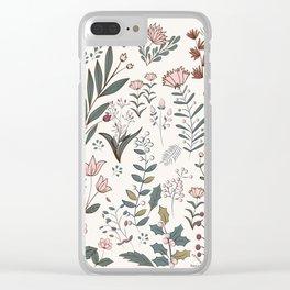 Winter Flowers II Clear iPhone Case