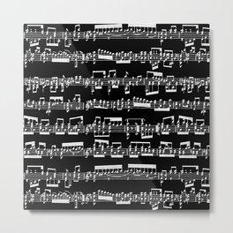 Sheet Music // Black Metal Print