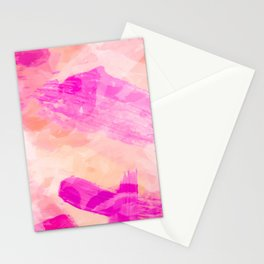 splash painting texture abstract background in pink Stationery Cards
