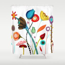 Wedding Ranunculus Bouquet Shower Curtain