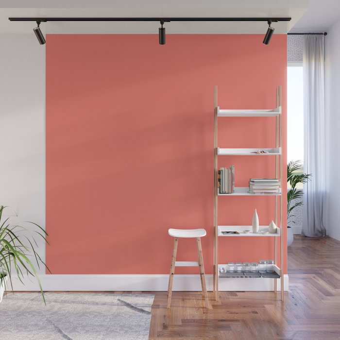 PEACH ECHO PANTONE 16-1548 Wall Mural
